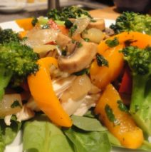 Recipe #48 | Sauteed Vegetable And Chicken Spinach Salad